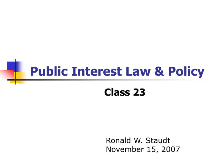 public interest law policy n.