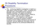 ss disability termination procedures