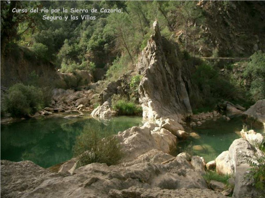Curso del río por la Sierra de Cazorla,