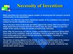 necessity of invention