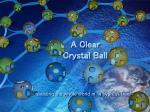 a clear crystal ball