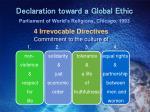 declaration toward a global ethic