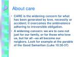 about care
