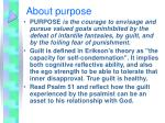 about purpose