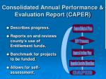 consolidated annual performance evaluation report caper