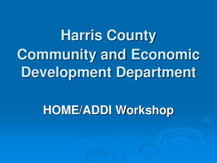 harris county community and economic development department n.