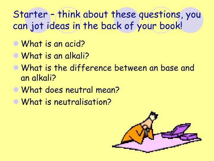 starter think about these questions you can jot ideas in the back of your book n.