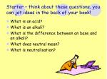 starter think about these questions you can jot ideas in the back of your book