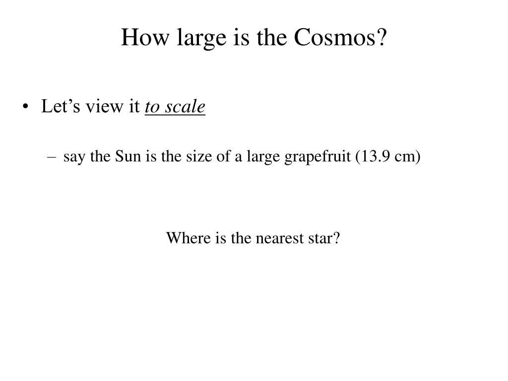 How large is the Cosmos?