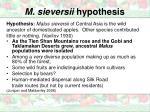 m sieversii hypothesis1