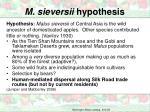 m sieversii hypothesis4
