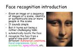 face recognition introduction