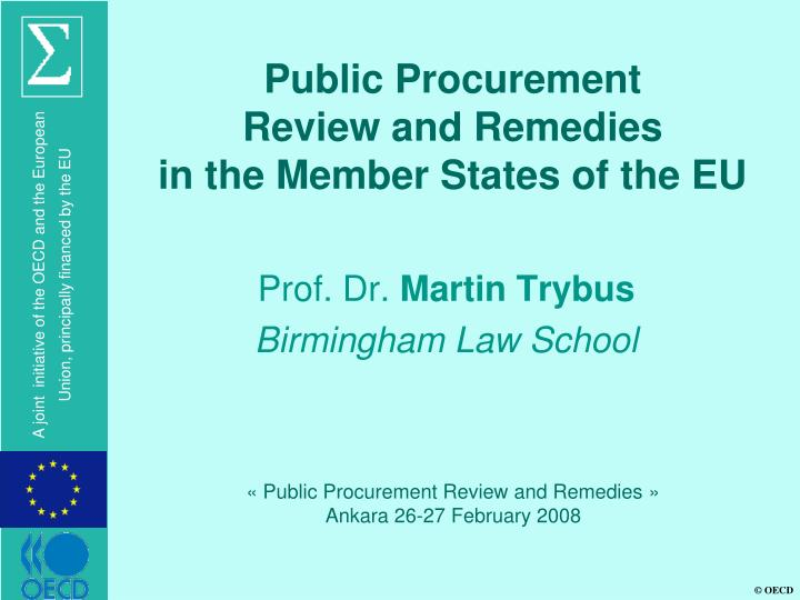 public procurement review and remedies in the member states of the eu n.