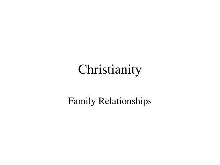 christianity n.