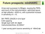 future prospects minihawc