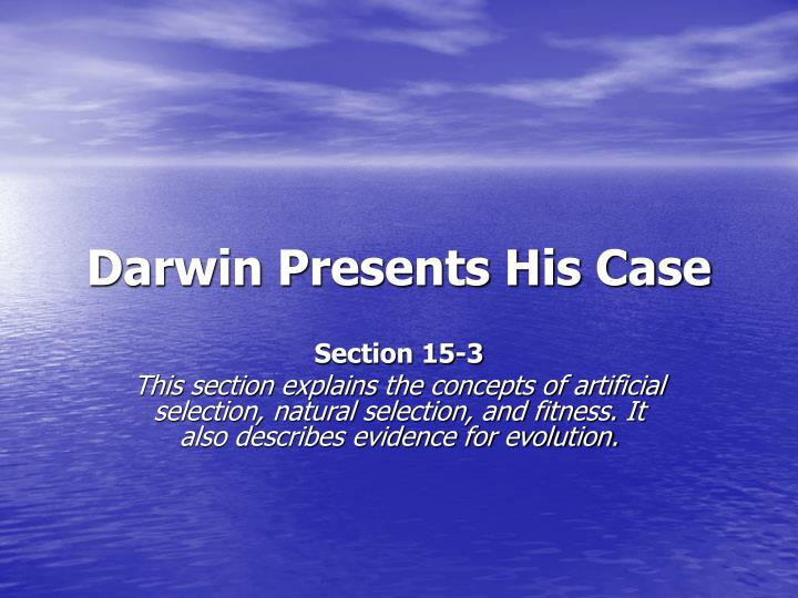 darwin presents his case n.