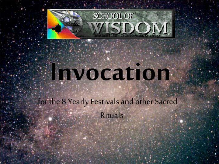 invocation n.