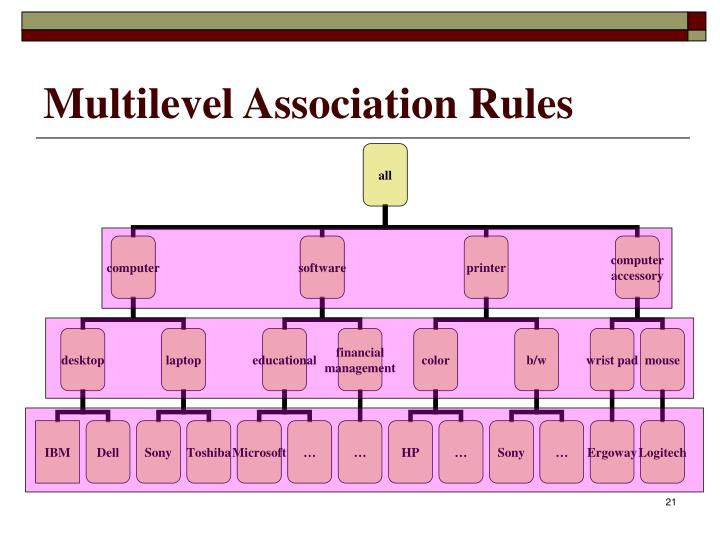 Multilevel Association Rules