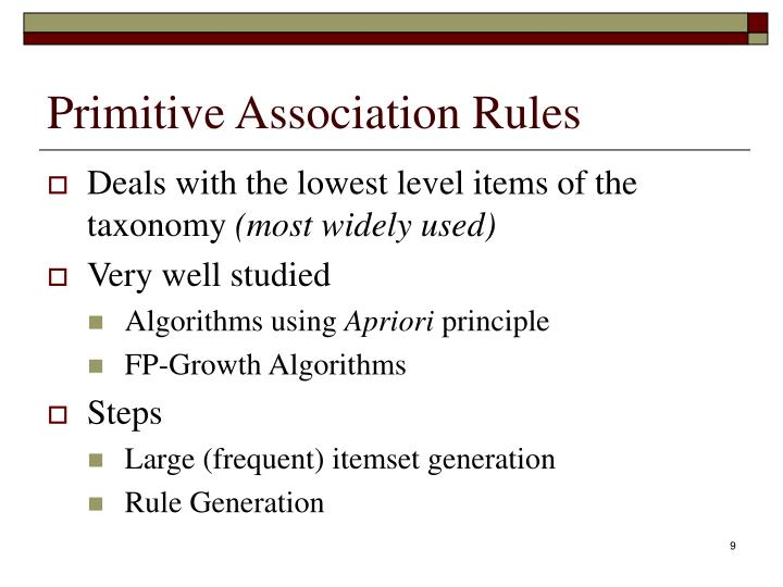 Primitive Association Rules