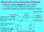 abstract and concrete classes