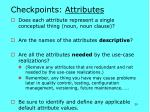 checkpoints attributes