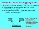 generalization vs aggregation