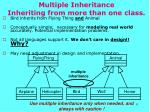 multiple inheritance inheriting from more than one class