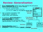 review generalization