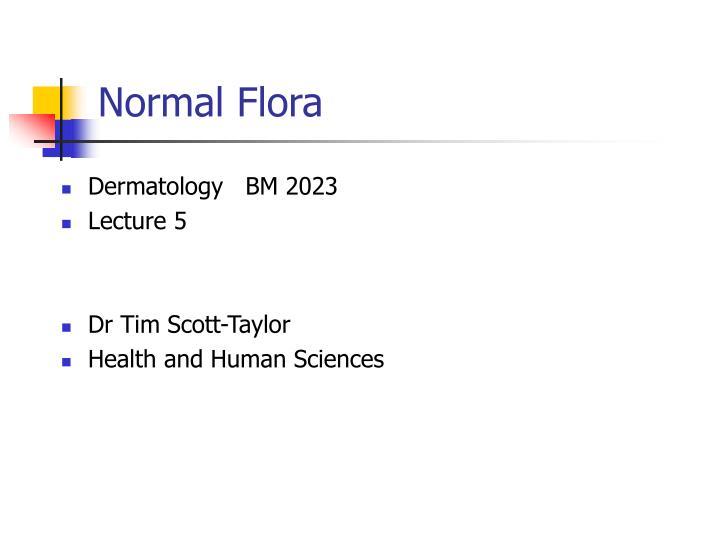 normal flora n.