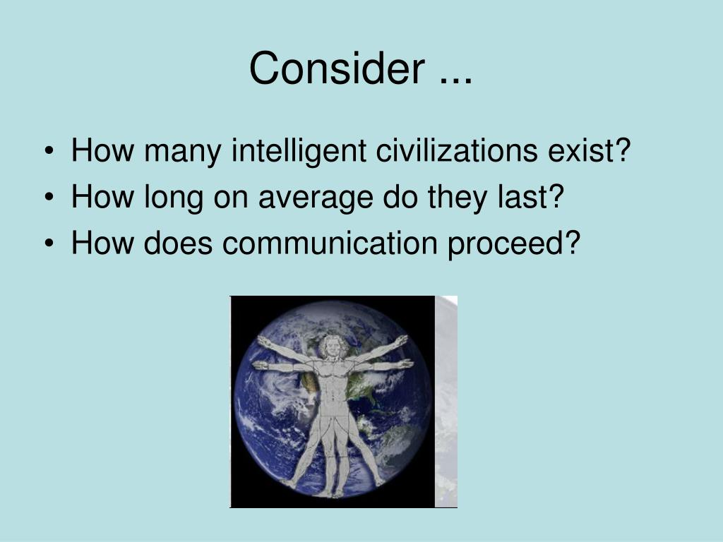 Consider ...