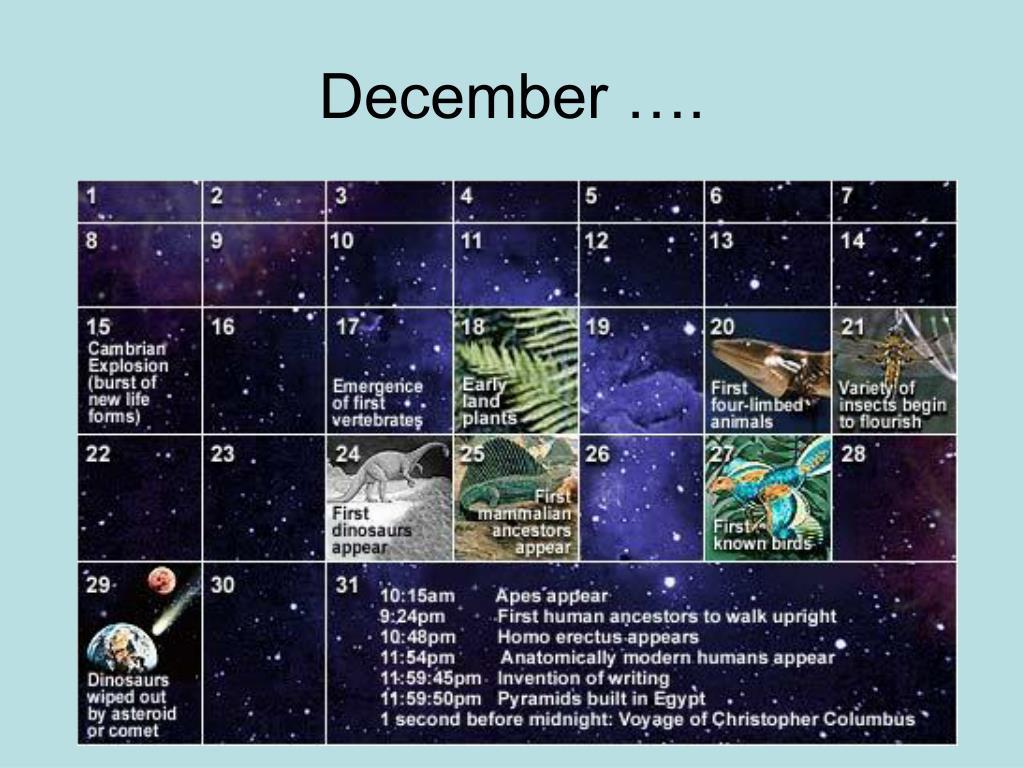 December ….