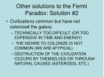 other solutions to the fermi paradox solution 2