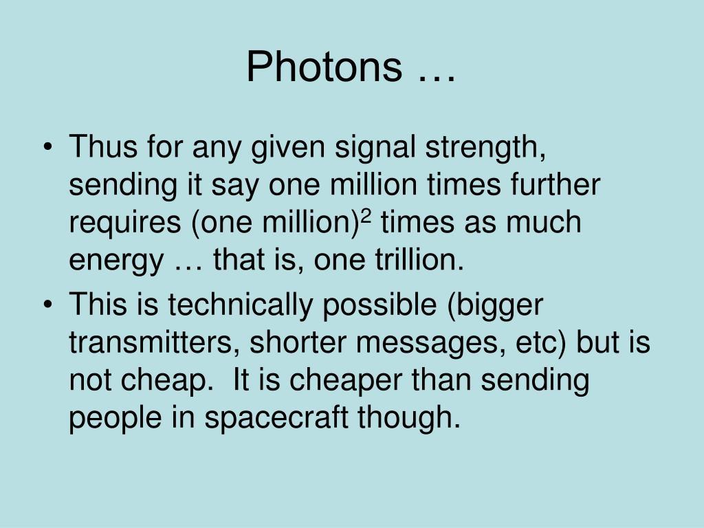 Photons …