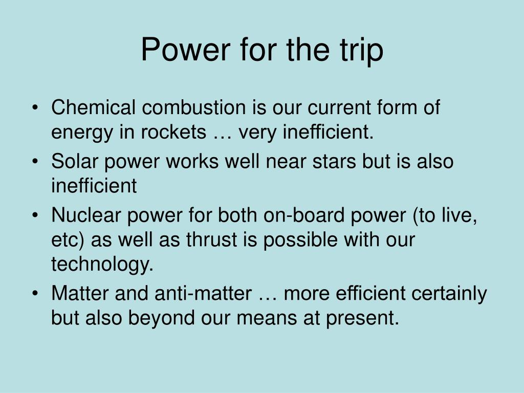 Power for the trip