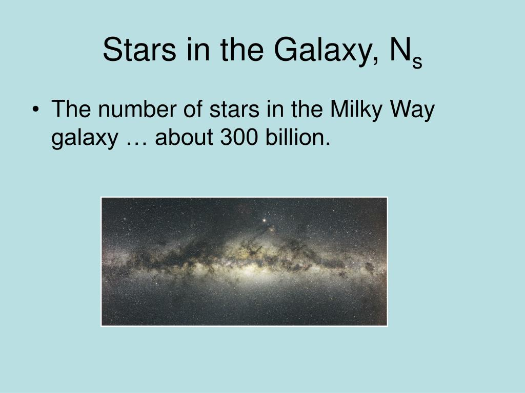 Stars in the Galaxy, N