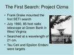 the first search project ozma