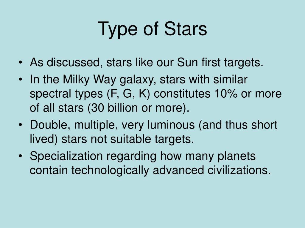 Type of Stars