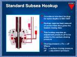 standard subsea hookup