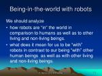 being in the world with robots