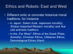 ethics and robots east and west2