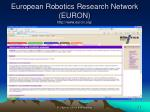 european robotics research network euron http www euron org