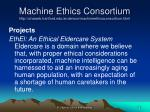 machine ethics consortium http uhaweb hartford edu anderson machineethicsconsortium html2