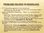 problems related to indwelling