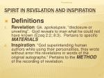 spirit in revelation and inspiration