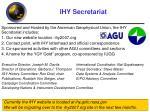 ihy secretariat