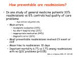 how preventable are readmissions1