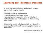 improving peri discharge processes