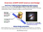 overview of bhfp exist science and design