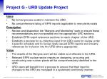 project g urd update project