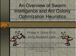 an overview of swarm intelligence and ant colony optimization heuristics